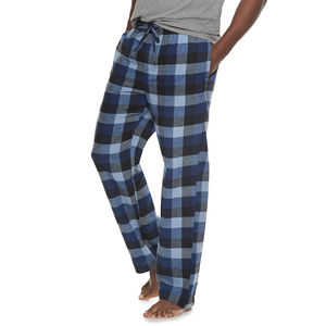 ~ Black Plaid Croft /& Barrow Pajama Bottoms Lounge Pants ~ Size Small 28-30